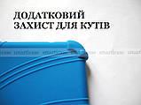 Синий противоударный силиконовый чехол бампер для Xiaomi Mi pad 4 Plus (10.1) с подставкой Flexy TPU Blue, фото 2