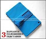 Синий противоударный силиконовый чехол бампер для Xiaomi Mi pad 4 Plus (10.1) с подставкой Flexy TPU Blue, фото 5