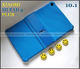 Синий противоударный силиконовый чехол бампер для Xiaomi Mi pad 4 Plus (10.1) с подставкой Flexy TPU Blue, фото 6