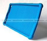 Синий противоударный силиконовый чехол бампер для Xiaomi Mi pad 4 Plus (10.1) с подставкой Flexy TPU Blue, фото 7