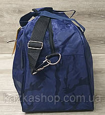 Дорожная сумка хорошего качества, среднего размера 53х32х22 см, плотный материал, ножки на дне сумке, фото 3