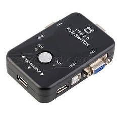 VGA KVM Switch переключатель 2-портовый