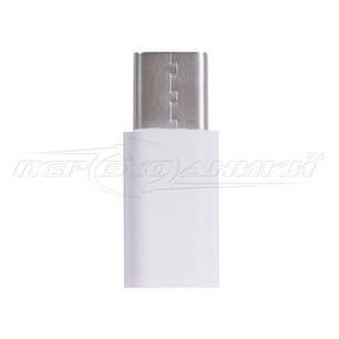 Переходник micro USB 2.0 Female to USB Type-C, белый, фото 2