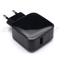 Сетевое зарядное устройство USB 5V, 2.4A, черный