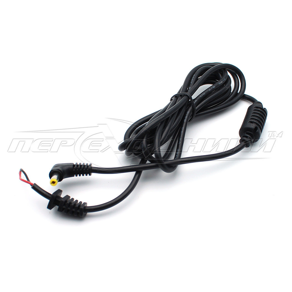 DC кабель питания 4.0х1.7 мм  (ASUS, ACER), 1 феррит, 1.2м, угловой штекер