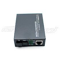 Медиаконвертер 1550 WDM (IC+113), 10/100 Мбит одноволоконный Full/Half duplex, SC 25 км, фото 2