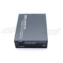 Медиаконвертер 1550 WDM (IC+113), 10/100 Мбит одноволоконный Full/Half duplex, SC 25 км, фото 3
