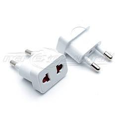 Электрический сетевой переходник 10A US, AU to EU с защитными шторками, белый