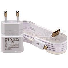 Сетевое зарядное устройство USB 5V 2A + кабель USB - micro USB, 1.3 м