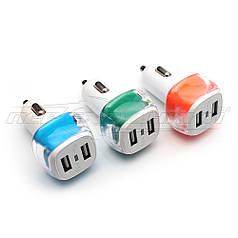 Автомобильное зарядное устройство USB 5V 2.1A (2USB)