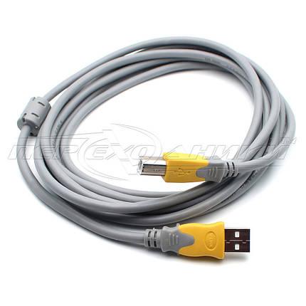 Кабель USB 2.0 AM - BM с ферритом для принтера (высокое качество), 3 м, фото 2