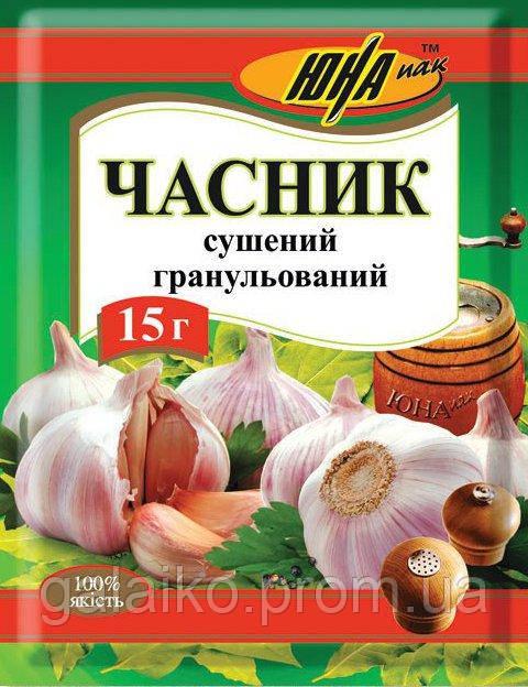 """Чеснок сушеный гранул.15г """"ЮНА""""(20)"""