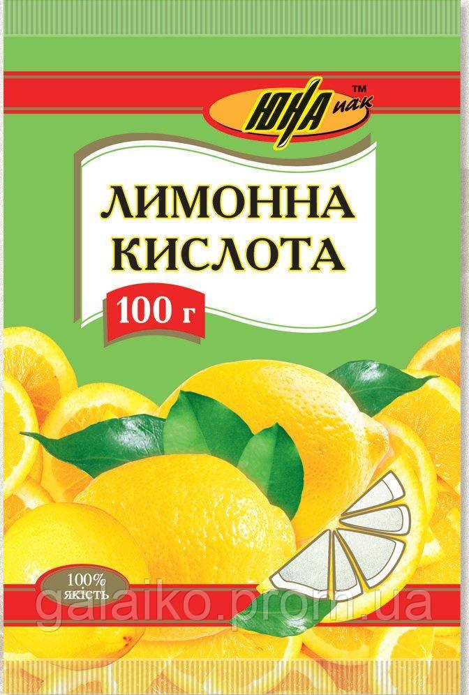 """Лимонная кислота 100г 'Юна"""" (130)"""