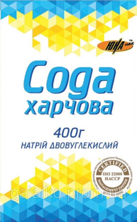 """Сода Харчова 400гр (21) ТМ """"ЮНА"""""""