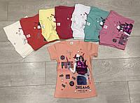 """Футболкаподростковаядля девочки 7-11 лет """"Девочка с блестящим рюкзаком"""",цвета уточняйте при заказе, фото 1"""