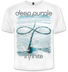 "Футболка Deep Purple ""Infinite"" (белая футболка), Размер S"