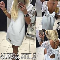 Платье женское, стильное, летнее, с кружевом, белое, STYLE, 510-088, фото 1