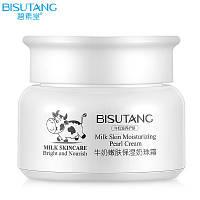 Bisutang Молочный крем для лица с экстрактом тростника, жемчугом и гиалуроновой кислотой