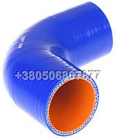 Патрубок силиконовый угловой 90° d50; L100*100 (4 слоя, 4мм)