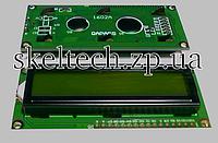 LCD1602 символьный ЖКИ экран 16х02, контроллер HD44780, зелёный фон, цвет символов чёрный