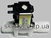 Клапан для воды, пластиковый корпус, напряжение управления 12В, присоединительные размеры 1/2-1/2