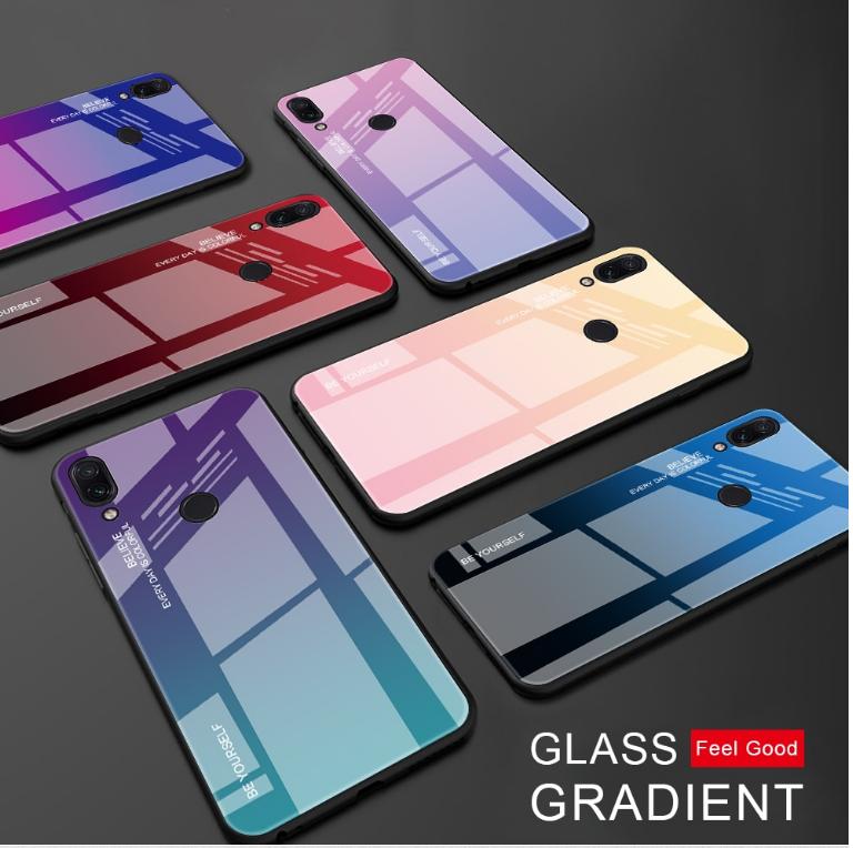 Чехол-накладка TPU+Glass Gradient HELLO для Xiaomi Redmi 6 Pro