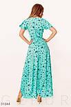 Ассиметричное платье на запах с принтом бабочки ментоловое, фото 4