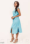 Повсякденне літній сукні-міді без рукавів блакитне, фото 3