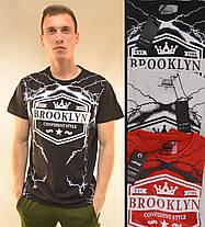 Футболка чоловіча з коротким рукавом і принтом Brooklyn розмір M Чорний, фото 2