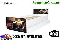 Кровать для подростка Фотоаппарат серия Beverly (ліжко дитяче) на ламелях