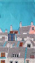 Кухонное  полотенце 35*61 рогожка Крыши Европы