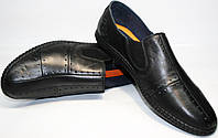 Летние туфли мокасины кроссовки черные стиль смарт кэжуал Luciano Bellini, фото 1