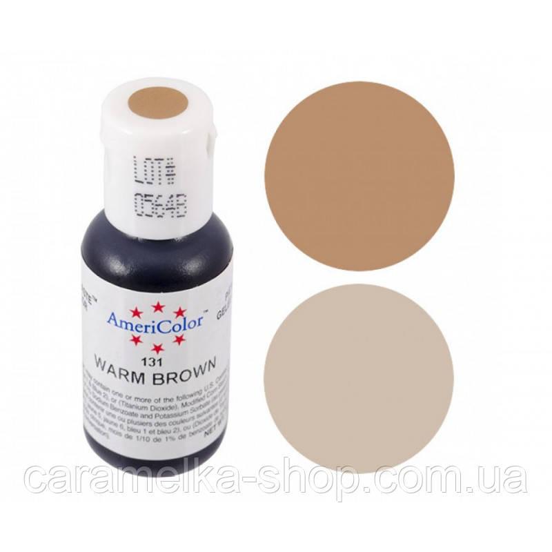 Барвник гелевий Americolor (Америколор) Теплий-Коричневий 131