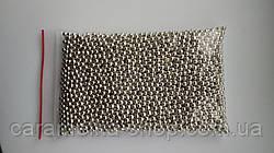 Посыпка кондитерская Бусы серебро, 3 мм