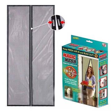 Штора-сетка москитная на двери на магнитах 100х210см Magic Mesh