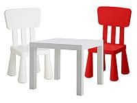 Столик + 2 кресла для детской комнаты, набор мебели IKEA MAMMUT