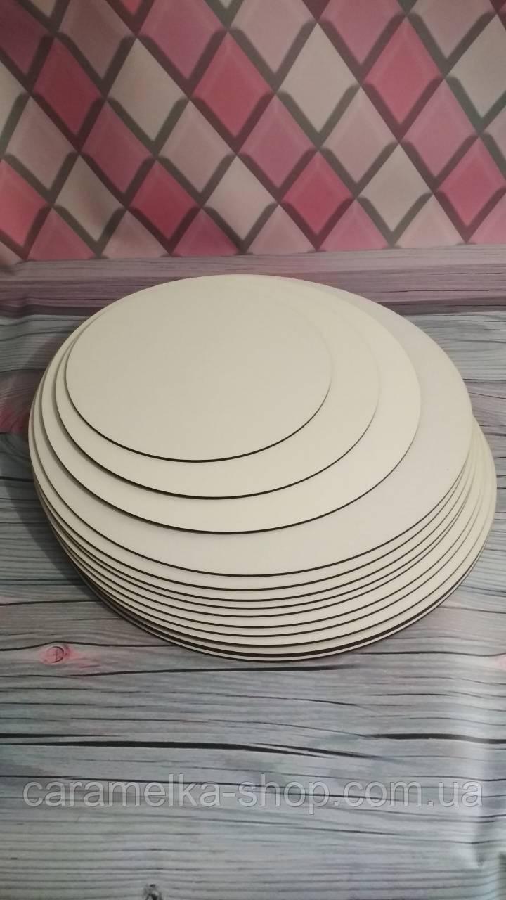Підкладка під торт ущільнена ДВП, 25см, кругла