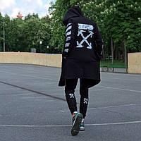 Мантия унисекс в стиле Off white Cross pixel чёрная