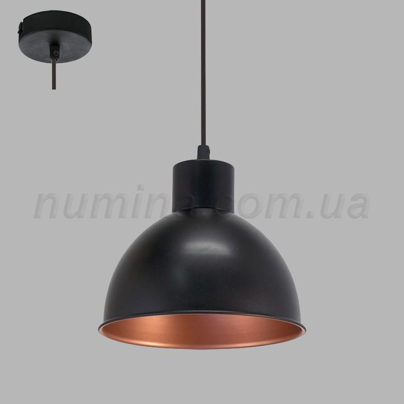 Люстра подвесная на одну лампу  29-101/1P  BK+GD