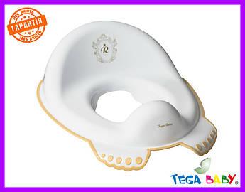 Накладка на унитаз Tega Royal Baby RL-002 нескользящая 103-Z white-gold