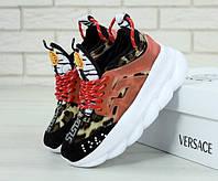 Кроссовки женские цветные яркие на платформе красивые стильные модные Versace Версаче