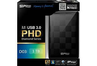"""Внешний жесткий диск 1 Тб/Tb Silicon Power Diamond D03, Black, 2.5"""", USB 3.0 (SP010TBPHDD03S3K), фото 3"""