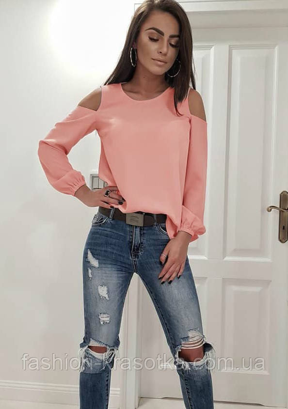 Модная женская блуза,ткань креп-шифон,размеры:42-44,46-48,50-52.