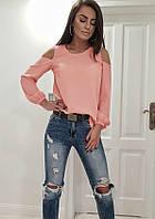 Модная женская блуза,ткань креп-шифон,размеры:42-44,46-48,50-52., фото 1