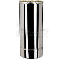 Труба термо нерж/нерж 0,5м Ф120/220мм 0.8мм 321 сталь для саун