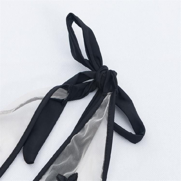 cff96970cf406 ... Красивый купальник с сеткой спереди и открытой спинкой черный , фото 6  ...