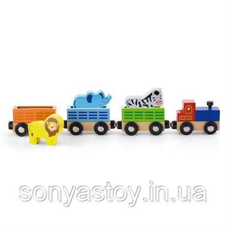 """Набор для железной дороги """"Поезд зоопарк"""", 1+"""