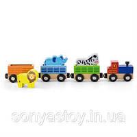 """Набор для железной дороги """"Поезд зоопарк"""", 1+, фото 1"""