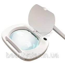 Настільна лампа лупа на струбцині з LED підсвічуванням (холодне світло) 6030 Led (3 діоптрії 12W) для косметології