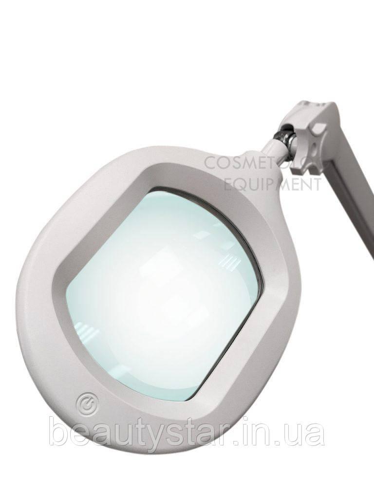 Лампа лупа с креплением к тележке и регулировкой яркости (холодный свет) 6029 Led 3D